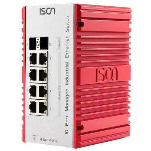 Industrie-Ethernet-Switche von ISON: managed oder unmanaged, Rack-Montage oder DIN-Hutschienenmontage